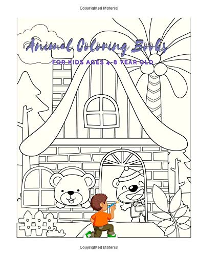 Animal Coloring Books For Kids Ages 4-8 Year Old: Animal Colouring Book Cartoon For Boys, Girls Toddlers & Teens Or Adult Best Xmas & Birthday Gifts With 100 Full Colour Pages Vol 20