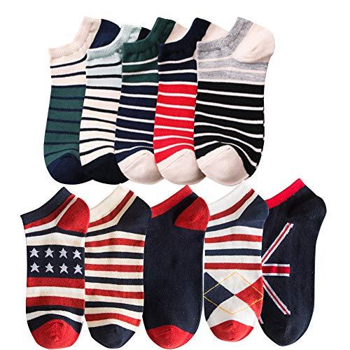 靴下 メンズ カジュアルソックス ソックス メンズ 通気性抜群くつした 10足組 wz-2011 style6