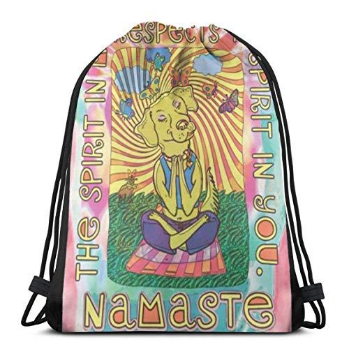 Namaste - Bolsa de yoga con cordón para perro, bolsa de viaje, bolsa de regalo