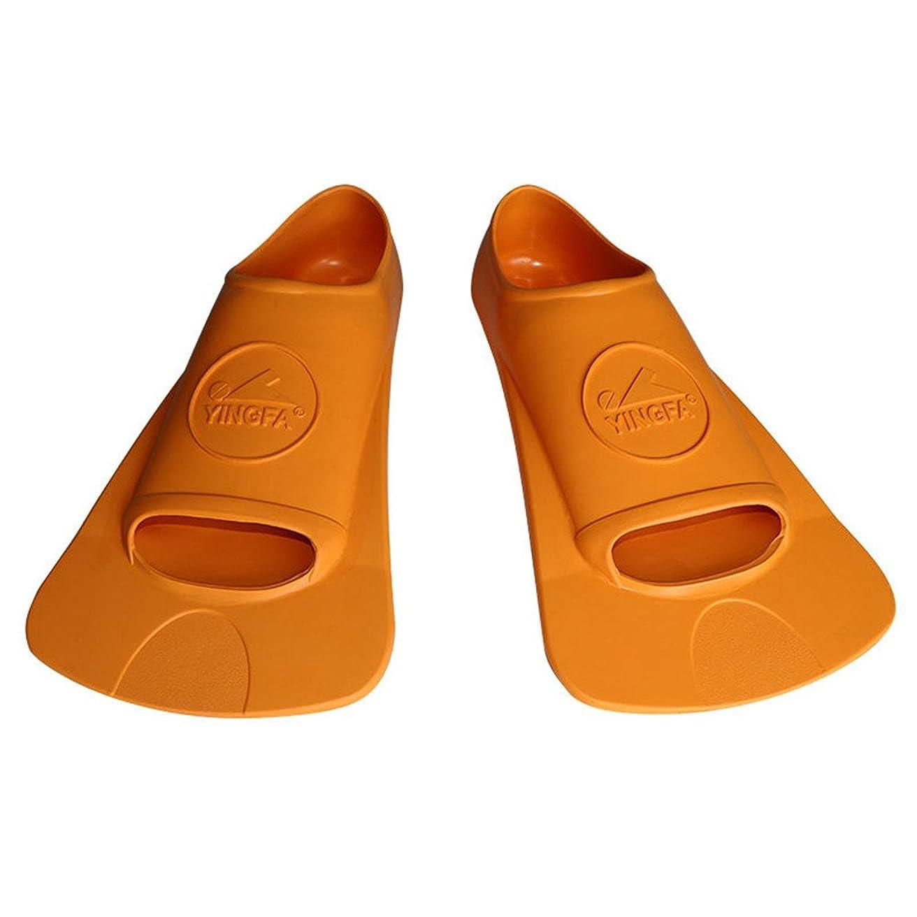真鍮機械的真剣にシュノーケリングフィンダイビング シュノーケリング泳ぐフィンダイビングフィン足ひれ足首は水泳、シュノーケリング、水生生物用の水泳のための超軽量です。 足首スキューバダイビングフィン初心者 (サイズ : M)