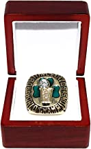 BOSTON CELTICS (Berele Zankel) 1986 NBA FINALS WORLD CHAMPIONS (Pride & Teamwork) Vintage Collectible High-Quality Replica Basketball Gold Championship Ring with Cherrywood Display Box