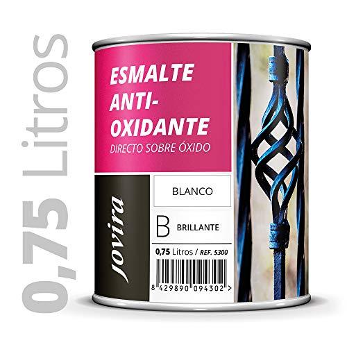 ESMALTE ANTIOXIDANTE DIRECTO SOBRE ÓXIDO BRILLANTE (750 ml, Blanco)