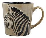 Ebros Ceramic Animal Totem Spirit Zebra Horse Print Drinking Beverage Mug 16oz Drink Coffee Cup Safari Themed Glazed Earthenware Kitchen And Dining Accessory Decor For Zebras Wildlife Animals