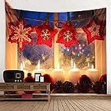Tapiz de árbol de Navidad para colgar en la chimenea, día de Navidad, tela para colgar en la pared, varios tamaños