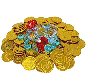 Nautical Cove Gold Coins and Diamond Jewelry Pirate Treasure Playset - Refill Pack for Gems Coins and Party Favors