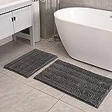 Feivea Bath Rugs Mats Set 2 Piece Luxury Chenille...