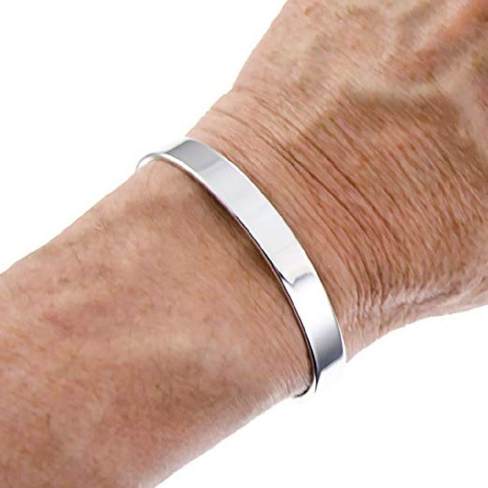 Drkao Copper Magnetic Bracelets for Woman Silver Finish Magnetic Copper Bracelet for Arthritis Mens Copper Bracelets for Arthritis for Women Copper Magnetic Bracelets Ladies Copper Bracelet