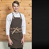 FTHH Delantal de Cocina,Delantal de Babero Unisex con 1 Bolsillo Delantales de Chef de Cocina de Cocina para Hombres y Mujeres para Cocina casera,Restaurante,cafetería,Divertidos Delantales de Cocina