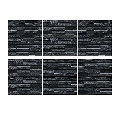 Adhesivo para azulejos, 12 unidades, 10 x 20 cm, diseño de mosaico, para la pared de la cocina