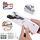URCGP Mini Handnähmaschine Tragbare Sewing Machine Schnellstichwerkzeug AA Batteriebetriben mit 3 Rollen Spulen für Kleidung