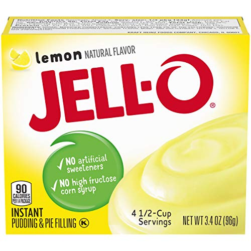 Jell-O Instant Pudding & Pie Filling, Lemon, 3.4 oz