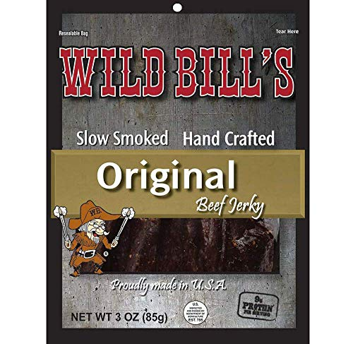 Wild Bill's Hickory Smoked Beef Jerky 3 Ounce Pack (3 count)