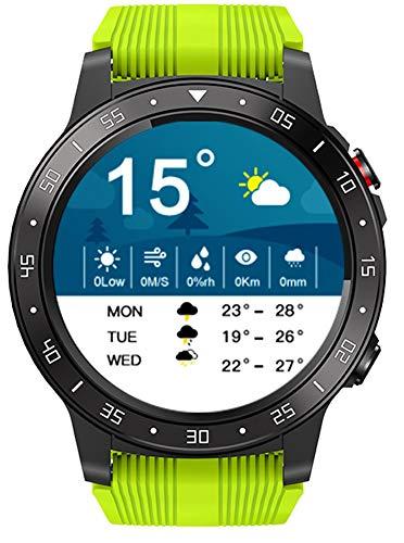 YGMDSL Smart Watch Reloj Inteligente Compass Atmosférico Bluetooth Call Sports Watch Altitud Monitor Fitness Tracker Smart Watch Actividad Fitness Tracker (Green)