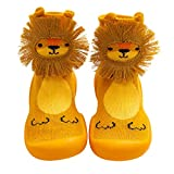 Baby Slippers Sock Shoes for Boys Girls,Toddlers Moccasins Anti-Slip Fuzzy Floor Slipper Breathable Thick Indoor Outdoor Winter Warm Shoes Socks (yellow, 12cm)