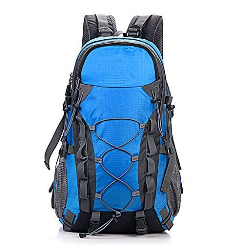 Sac à Dos Large 40L Sac à Dos de randonnée imperméable Portable et Respirant Couverture Compartiment pour Ordinateur Portable Randonnée pédestre Voyager Camping Hommes et Femmes Bleu