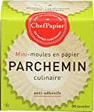 PaperChef Culinary Parchment Baking Cups, Mini, 90