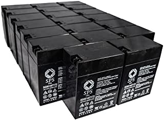 SPS Brand 6V 14 Ah Terminal T1T2 Replacement Battery for Emergi-Lite TSM272 (24 Pack)