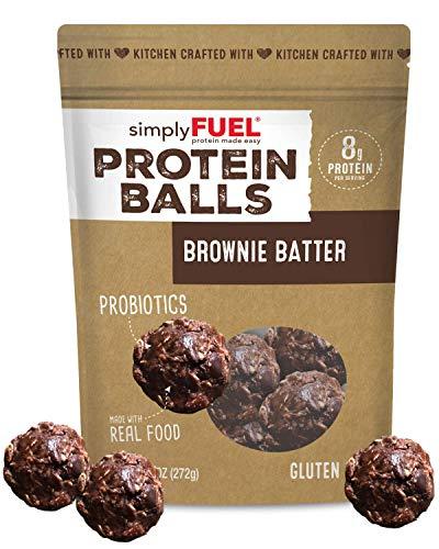 simplyFUEL Brownie Batter Protein Balls   1 Pack of 12 Balls   Gluten...