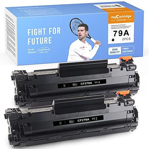 MyCartridge PHOEVER Cartucho de tóner Negro Compatible para HP 79A CF279A para HP Laserjet Pro M12W M12A M12 M26NW M26A M26 Cartucho de Impresora (2 Negros)