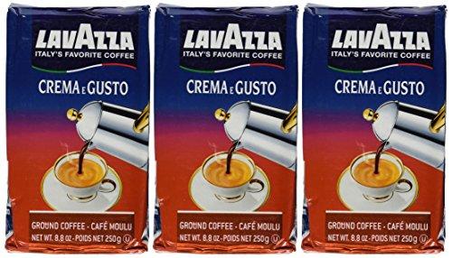 italian coffees Lavazza Crema e Gusto Ground Coffee, Italian , 8.8-Ounce Bricks (Pack of 3)
