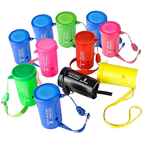 ArtCreativity 3 Inch Mini Air Horns - Pack of 12 - Noisemakers for Sporting Events, Parties, Celebrations, Fun Birthday Party Favors and Goodie Bag Fillers for Kids and Adults