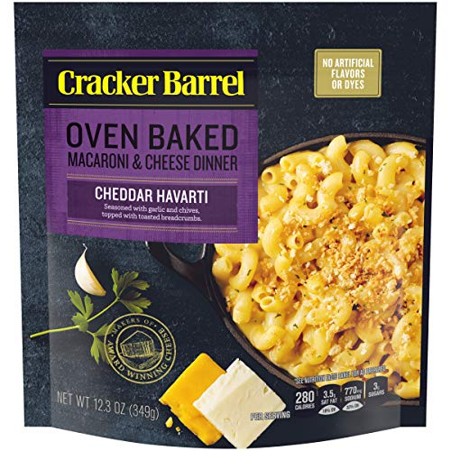 Cracker Barrel Oven Baked Cheddar Havarti Macaroni and Cheese Dinner (12.3 oz Pouch)