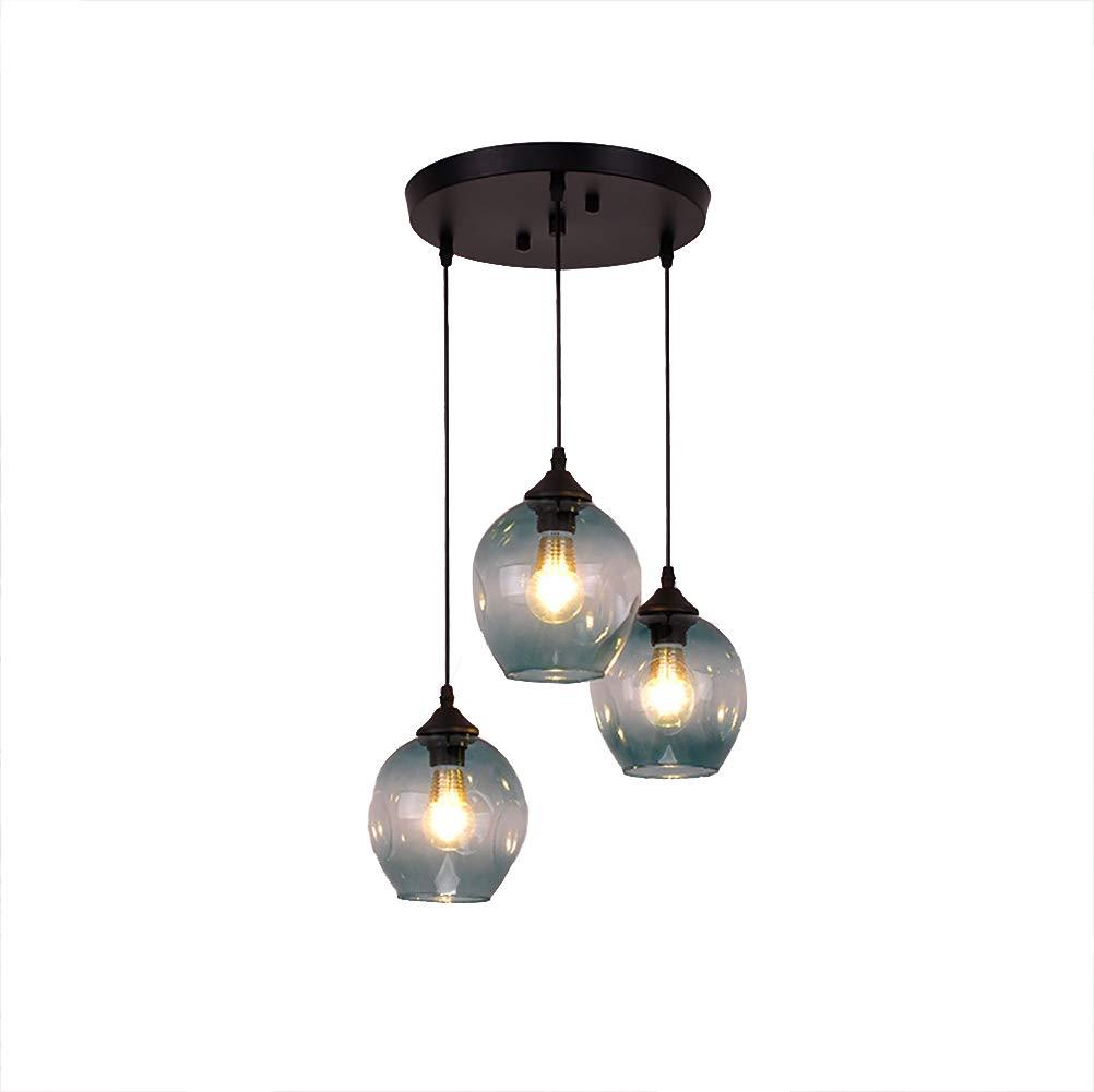 3-vidrio Moderno Ligero Lámparas Araña,cocina Industrial Metal ...