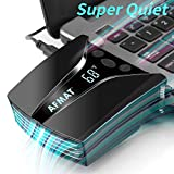 Laptop Fan Cooler, Laptop Cooling Fan, Rapid Cooling Cooler Fan with Temperature Display for Gaming Laptop, Nintendo Switch, 13 Wind Speed(2600-5000RPM), Auto-Temp Detection