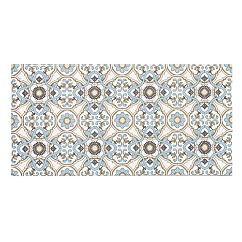 Baroni Tapis en vinyle pour cuisine, motif Cementine Note 120 x 60 cm en PVC antidérapant pour intérieur et extérieur