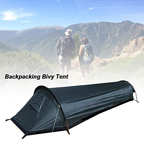 Bivvy Bag,1 Man Bivy Tent Sleeping Bag, Ultralight Bivvy One Person Tent Compact Single Person Larger Spacewaterproof Sleeping Bag for Outdoor Camping Hiking Traveling Climbing