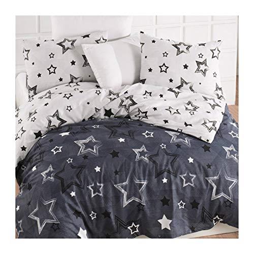 Huiyue Lecho de Lujo de algodón Conjunto del lecho Dobles / / / Reina Llena de más Grande 3/4/5 Hojas Funda nórdica Hojas de algodón (Color : Stars, Size : King Size)
