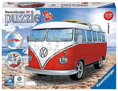 Ravensburger- Volkswagen Puzzle, Color Blanco/Rojo (Ravesnburger 12516)
