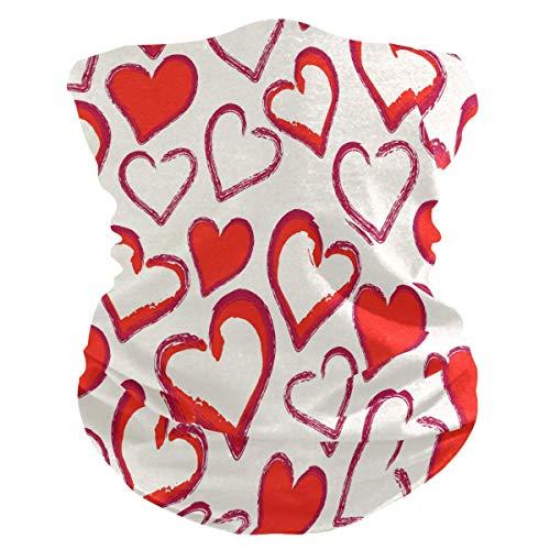 Diadema con forma de corazón para el día de San Valentín, protección solar UV, máscara para cuello, bufanda mágica, bandana para la cabeza, pasamontañas para mujeres y hombres
