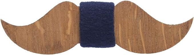 Wooden moustache bow tie