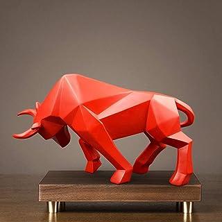 Creatieve Hars Red Bull Standbeeld Bizon Os Sculptuur Abstract Beeldje Woondecoratie Moderne Accessoires Nordic Decoratie ...