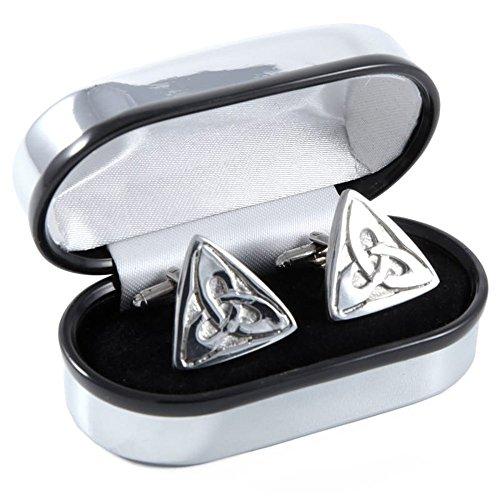Manschettenknöpfe Zinn keltischer Knoten Trinity