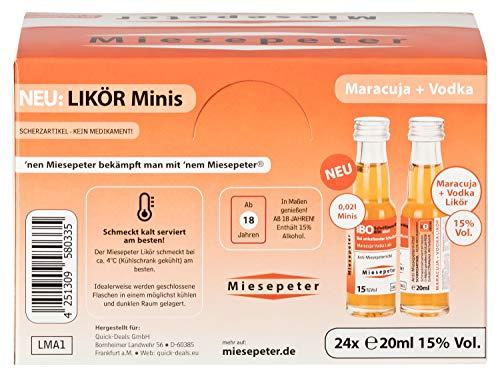 Miesepeter Likör Minis - IBO Scheißlaune-Weg 800 akut (Maracuja + Vodka, 24 x 20ml im Display) - 5