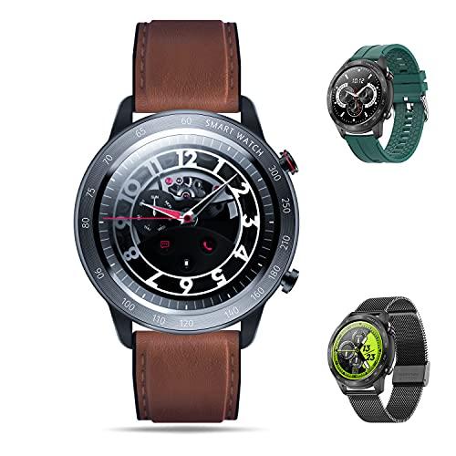 Reloj de pulsera redondo para hombre de MäNner (negro)