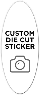 """500 Oval Custom Die Cut Stickers 2"""" x 5"""" for Laptops, Windows, Cell Phones, Cars. Upload Your own Image, Logo, or Design…"""