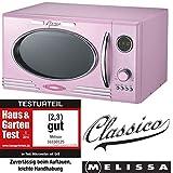 Melissa 16330103 Rétro Four à micro-ondes avec grill 900 W 25 l Rose