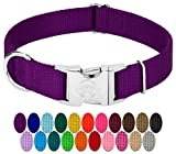 1 INCH | Adjustable from 16 in - 22 in. Always measure for correct size. Measure around your dog (with string or tape measure) snugly where you want the collar to lay. See our convenient size chart. 25 COLOR OPTIONS | Personalize your pup with 25 ric...