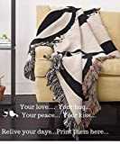 Personalized Throw Blanket Customized with Photo or Collage Wedding Gift Birthday Gift Super Soft Woven Made of Pure Cotton for Baby Adult Size - 60' X 80'