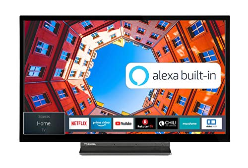 Toshiba 24WK3C63DA 24 Zoll Fernseher (HD ready, Smart TV, Prime Video / Netflix, Alexa Built-In, Bluetooth, WLAN, Triple Tuner), schwarz