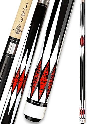 """Tai ba cues Pool Cue Stick, 11.75mm Tip, 57"""", Hardwood Canadian Maple 2-Piece Professional Billiard Stick 18,19,20,21 Oz (Selectable)-Blue, Red, Gray, Green Pool Cue Stick"""