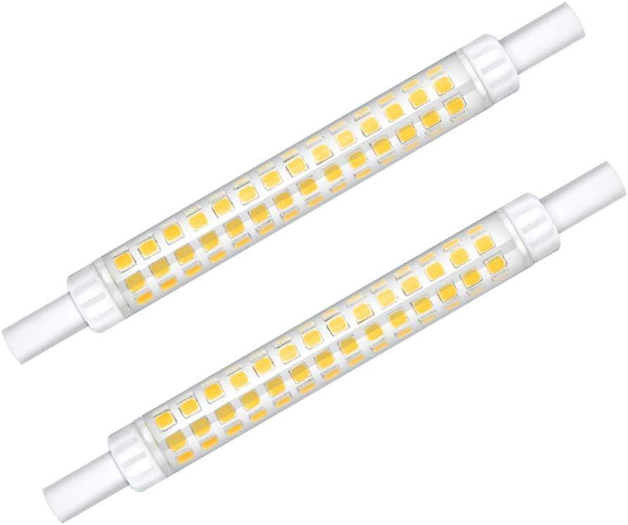Klarlight R7s 118mm Bombilla LED 10W Blanco Frío 6000K 12mm Diámetro Doble Extremo J118 T3 Lineal Reflector Bombilla Equivalente a 60W 75W Lámpara Halógena (2 Paquetes, Non-Regulable)