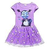 PCLOUD Vampirina Toddler/Little Kid Girls Short Sleeve T-Shirt Dress Cartoon Princess Skirt