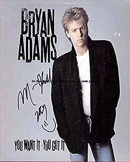 bryan adams signed memorabilia