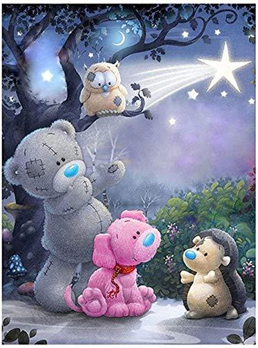 Bmstjk Animal Puzzle, Puzzle in Legno da 1000 Pezzi, Gioco educativo per Famiglie - Orso 75 * 50 cm