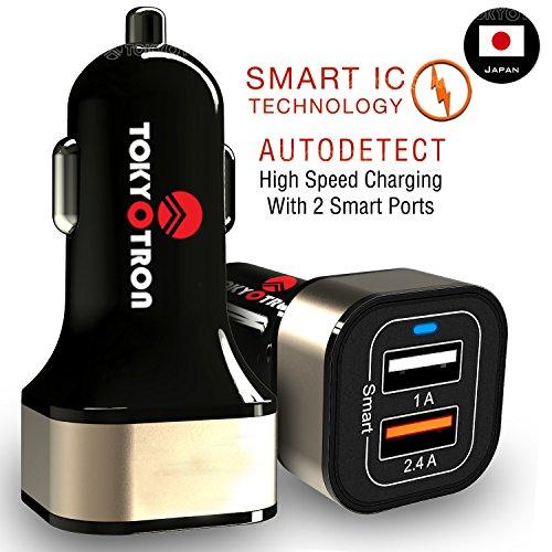 Tokyotron IGH00062 3.1A Dual Port USB Car Charger