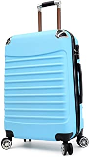 Trolley Case 20 inch Carry On Luggage Lightweight ABS, 4 Wheel Spinner Suitcase Hard Cabin Travel Case Hand Luggage for Easyjet British Airways Ryanair. Travel Luggage Carry-Ons (Color : Sky Blue)